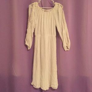 LOFT white summer dress